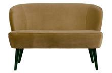 Mała sofa SARA velvet - wojskowa zieleń