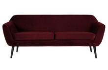 Sofa ROCCO 187 cm velvet - czerwony