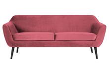Sofa ROCCO 187 cm velvet - różowy