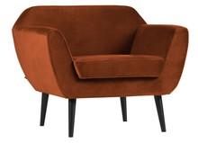 Fotel ROCCO velvet - rdzawy