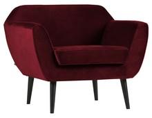 Fotel ROCCO velvet - czerwony