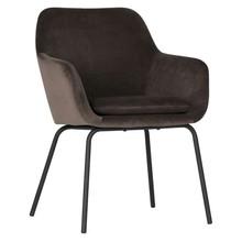 Zestaw 2 krzeseł MOOD velvet - antracytowe