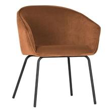 Zestaw 2 krzeseł SIEN velvet - brązowy