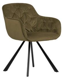 Aksamitne krzesło ELAINE - wojskowa zieleń