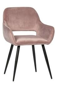 Zestaw 2 krzeseł JELLE velvet - jasnoróżowy