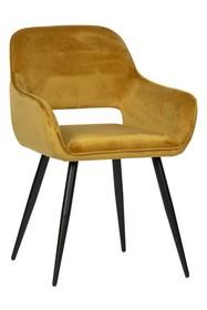 Zestaw 2 krzeseł JELLE velvet - żółty