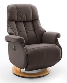 Fotel relax CALGARY COMFORT L - ciemny brąz/naturalny