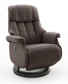 Fotel relax CALGARY COMFORT L - ciemny brąz/czarny