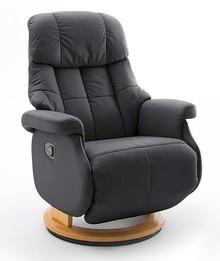 Fotel relax CALGARY COMFORT L - czarny/naturalny