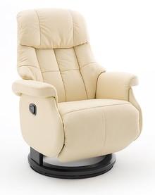 Fotel relax CALGARY COMFORT L - krem/czarny