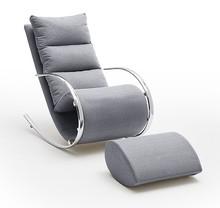 Fotel z podnóżkiem YORK - szary