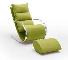 Fotel z podnóżkiem YORK - zielony