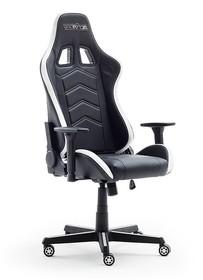 Fotel gamingowy z oświetleniem mcRACING LED - czarny/biały