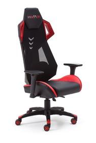 Sportowy fotel biurowy mcRACING B - czarny/czerwony
