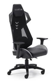 Sportowy fotel biurowy mcRACING B - czarny/szary