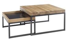 Zestaw stolików LUBAO - dąb sękaty