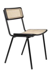 Krzesło JORT - czarny/naturalny