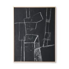 Obraz BRUTALISM 60x80cm - czarny