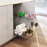 CARGO MINI boczne lewe bez mocowania frontu na artykuły kosmetyczne i detergenty. 2-poziomowe do szafki szerokości frontu 30 cm. Kolor chrom połysk...