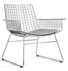 Krzesło lounge WIRE - chrom