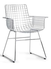 Krzesło z podłokietnikami WIRE - chrom