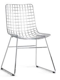 Krzesło metalowe WIRE - chrom