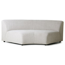 Sofa JAX: element okrągły - jasnoszary