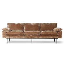 Sofa 4-osobowa RETRO - postarzany złoty