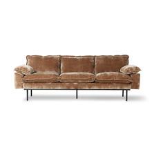 Sofa 3-osobowa RETRO - postarzany złoty