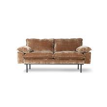 Sofa 2-osobowa RETRO - postarzany złoty