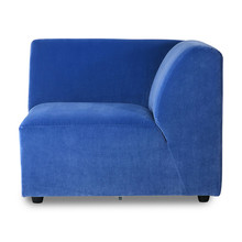 Kanapa JAX: element prawy - royal velvet blue