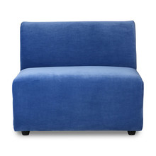 Kanapa JAX: element środkowy - royal velvet blue