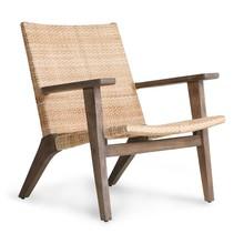 Tkane krzesło z podłokietnikami - naturalny
