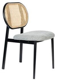 Krzesło SPIKE - naturalny/szary