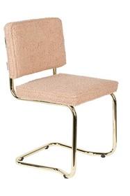 Krzesło TEDDY KINK - różowy/złoty