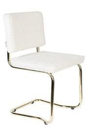 Krzesło TEDDY KINK - biały/złoty