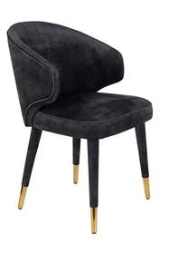 Krzesło LUNAR VELVET ANTHRACITE FR