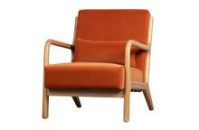 Fotel MARK velvet - melonowy