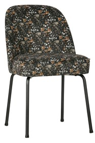Krzesło VOGUE velvet - czarny w kwiaty