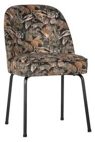 Krzesło VOGUE velvet - czarny z motywem kwiatowym