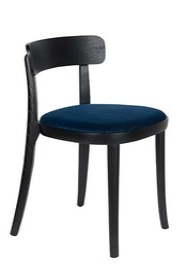 Krzesło BRANDON - czarny/ciemny niebieski