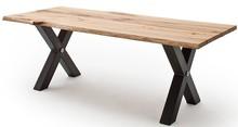 Stół z ciosanym blatem SAMARA - dąb lity ze spękaniami