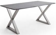 Stół drewniany CALABRIA z blatem 2.5 cm - szary piaskowany