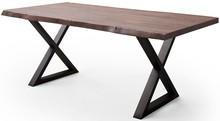 Stół drewniany CALABRIA z blatem 5.5 cm - orzech