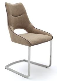 Krzesło na płozie ALDRINA - cappuccino