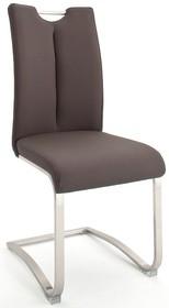Krzesło z uchwytem ARTOS - ekoskóra brązowa