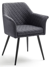 Krzesło z podłokietnikami COVINA - antracyt