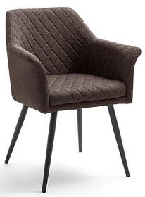 Krzesło z podłokietnikami COVINA - brąz