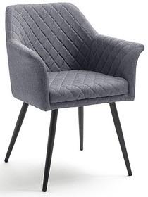 Krzesło z podłokietnikami COVINA - szary