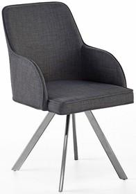 Krzesło obrotowe ELARA C - szary/nogi skośne